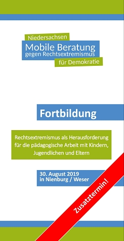 Fortbildung Rechtsextremismus & Pädagogik 30.08.2019 in Nienburg © Mobile Beratung Nds. | WABE e.V.