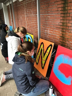 Graffiti Workshop in Thedinghausen © Wabe Koordinierungsstelle Verden