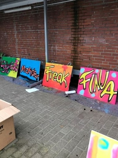 Graffiti Workshop Thedinghausen 2 © Wabe Koordinierungsstelle Verden